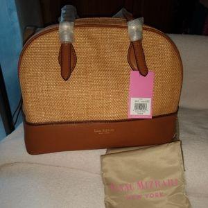 Isaac  Mizrahi Diana straw caramel purse.